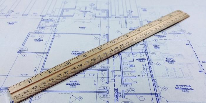 progetto architetto con riga al centro