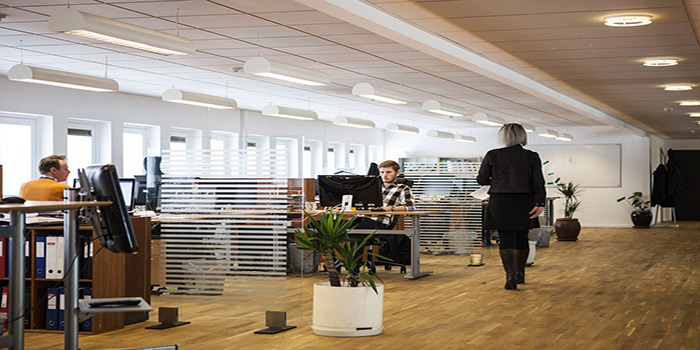 azienda con dipendenti alla scrivania